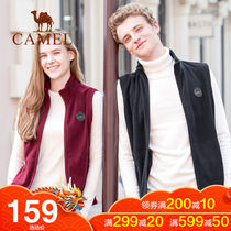Camel Outdoor autumn winter new thickening velvet jacket female sports vest couple Fleece casual horse clip Jacket