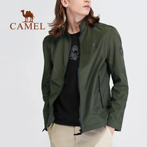2019 new camel outdoor mens windproof warm and comfortable leisure sports Stand Collar Zipper cardigan jacket