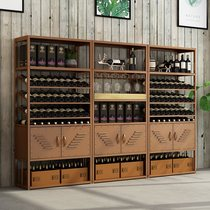 New European-style Iron Wine wine racks racks floor glass stand Home Living Room restaurant wine cabinet partition cabinet