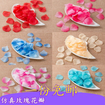 Simulated petal fake rose wedding room decoration props creative package Valentines Day wedding supplies birthday arrangement