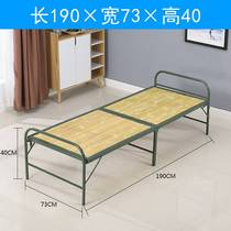 Bamboo bed fold-out bed double single outdoor cool bed military bed office simple home lunch break escort bed.