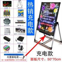 Hanging floor-to-ceiling light-emitting small blackboard outdoor dining room bright fluorescent board led counter message flash board door