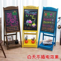 Price shop plug-in light-emitting small blackboard retro removable bakery advertising wall flash screen booth manicure