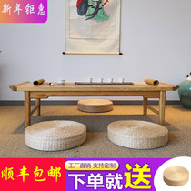 Japanese small tatami low desk coffee table Kang table Black peach Modern simple solid wood balcony floating window table Zen meaning