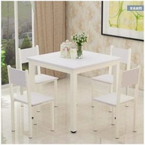 Combination of dining tables and chairs square 4 people eat table simple combination of small square table chess table table