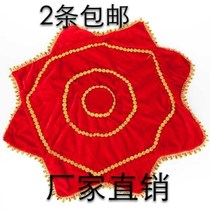 Adult dance handkerchief thickened with a circle of two people turn the hand roll dancing Yangko handkerchief octagonal towel a pair of two pieces