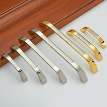 New modern stainless steel wire drawing wardrobe door handle simple drawer cabinet drawer pastoral cabinet door handle