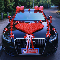 Korean wedding car decoration wedding wedding main deputy simulation flower flower wedding car flower goods wedding car flower set