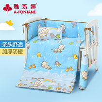 A fontatech home textile bedding baby baby cotton multi-piece comfortable thick soft cartoon multi-piece