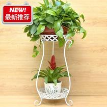 Flower shelf balcony wall Europe e Type wrought iron multi-layer flower green dill dill balcony flower shelf floor living room