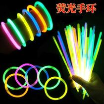 Concert glow stick disposable 100 colorful glow stick bracelet luminous bracelet childrens toys glow stick