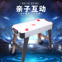 Crown childrens air balloon ice hockey table with electric suspended table hockey machine desktop ice hockey birthday gift