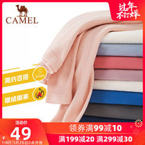 Camel outdoor fleece 2019 autumn and winter men and women couples warm and velvet sweater set polar fleece plus velvet shirt