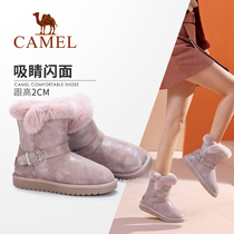Camel shoes 2019 Winter new plus velvet padded cotton shoes short boots women flat warm thick snow boots women