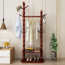 Coat rack floor hangers solid wood living room bedroom clothes rack home modern simple assembly clothes rack