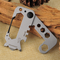 Multi-function keychain opener portable portable mini pocket combination tool outdoor camping carabiner ring