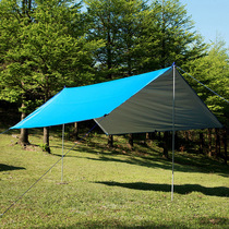 Sky tent outdoor pergola large coated silver sunscreen UV Beach shade anti-rain shed
