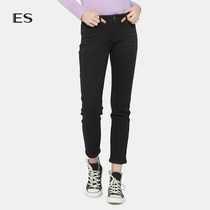 Aige es stylish Simple pure skinny little feet nine-point jeans female 8a0323031