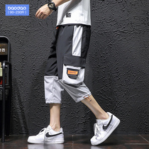 Summer pants Tide brand beam feet mens shorts casual pants loose pants fat pants plus fertilizer XL
