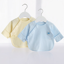 Newborn long-sleeved half back clothing thin section baby warm jacket baby cotton Monk summer 0-6 months