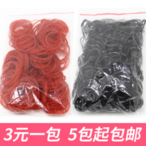 Hair stitching Red Perm Rubber band Rubber Band Hair decoration children black Head rope Rubber Band Hair Rope