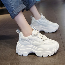 2019 New ins Super fire Daddy shoes autumn wild thick bottom increased leisure sneakers sponge cake white shoes tide