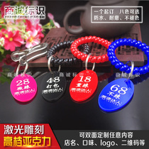 Acrylic number brand Spicy hot called the number plate clip hand and other plate clips digital License Number plate
