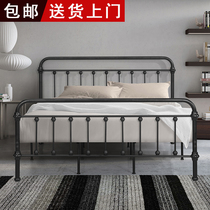European modern wrought iron bed 1 5 M 1 8 m double bed 1 2 m single bed Environmental Protection iron bed rental room bed