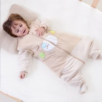 Baby sleeping bag autumn and winter thickening leg Four Seasons newborn winter Big Baby Baby spring and autumn thin cotton children anti-kick was