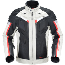 Riding suit male motorcycle winter waterproof off-road racing suit four seasons warm locomotive clothing drop-resistant clothing women