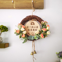 Welcome to the house in the business listing air conditioning open wooden creative wreath shop decorative brand personalized custom