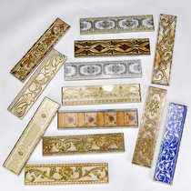 Brick-and-gold waistline tile bathroom wall decoration kitchen balcony ground wire wire tile waistline gilded
