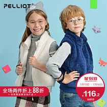 Bursi and children outdoor fleece vest boys and girls Sleeveless Vest spring and autumn warm jacket waistcoat cardigan