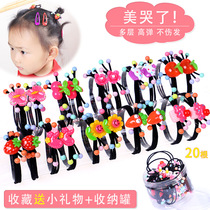 Korean childrens hair rope cute childrens head rope primary school students tie hair rubber band princess does not hurt hair head flower jewelry
