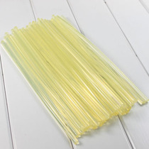 High-quality hot melt rod small yellow adhesive strip fully transparent soft hot melt rod 7mm