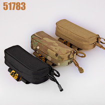 51783 outdoor military fans portable anti-lost glasses box tactical EDC accessories bag camouflage glasses bag carry bag