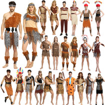 Halloween costume cos show clothes adult men and women Indigenous primitive Indian BAO WEN geek costume