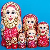 Yaklux hand-painted business gifts birthday gifts Basswood brand matryoshka 7 layer 0722