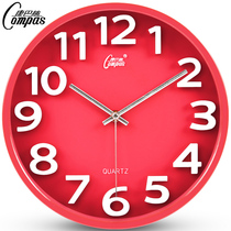 Compaq 12 inch silent watch stereo creative wall clock living room hanging table quartz clock Fashion Modern clock table