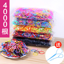 Rubber band wholesale disposable rubber band hair rope black hair ring stretch childrens hair adult hair accessories headdress