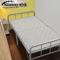 Vitamin-resistant plank bed hard plate simple folding bed linen bed lunch take nap bed out rental iron rack escort Home