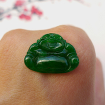 Rich Jade Jade Jieyang 18052305 emerald pendant laughing Buddha spicy green Buddha male mosaic Jade Buddha female a goods Jade