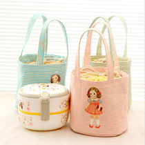 Insulation Cute Doll bento bag student portable lunch lunch box bag with rice insulation bag ice bag picnic bag