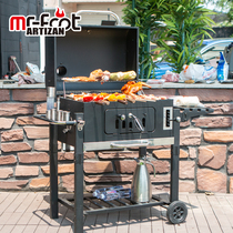 Home outdoor charcoal barbecue grill large thickened courtyard carbon barbecue rack 5 or more American BBQ Villa