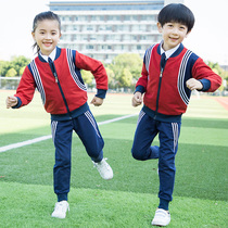 Primary and secondary school uniforms class clothes spring and autumn childrens Sports School Wind Cotton three-piece graduation clothing custom suits