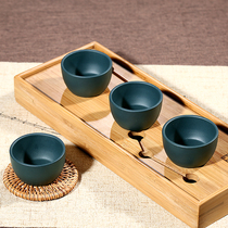 Jiusha Yixing ore purple sand cup full handmade tea cup PUer Cup small cup days green mud four Cup set