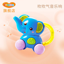 Audrey small elephant Horn baby toy small horn can blow childrens Horn toy musical instrument environmental non-toxic