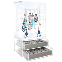 Acrylic jewelry storage box simple trinkets hairpin ear clip earrings earrings necklaces tidy up