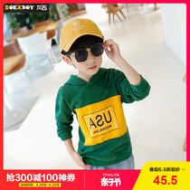 Left West childrens clothing sweater spring 2019 New childrens hooded jacket foreign style childrens spring and autumn Korean version of the tide