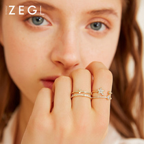 ZENGLIU Japanese Light Luxury Star Ring network Red Girl fashion personality opening adjustable girlfriends index finger ring